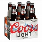 Coors Light 6pk 12oz Bottles