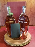 Angel's Envy Gift Set - with tasting glass and notebook arranged in gift box.